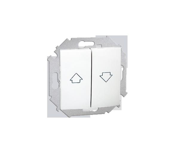 Przycisk żaluzjowy pojedynczy (moduł) 10A 250V, zaciski śrubowe, biały 1591335-030