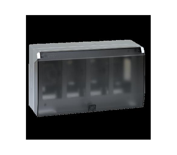 Obudowa natynkowa z pokrywą SIMON 500 4×S500 8×K45 aluminium 51040004-033