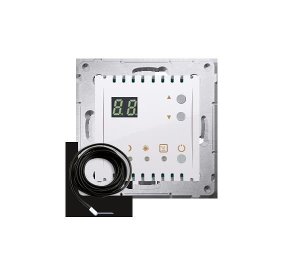 Regulator temperatury z wyświetlaczem z czujnikiem zewnętrzym (sonda) biały