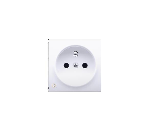 Pokrywa do gniazda wtyczkowego pojedynczego z uziemieniem antybakteryjny biały DGZ1ZP/AB11