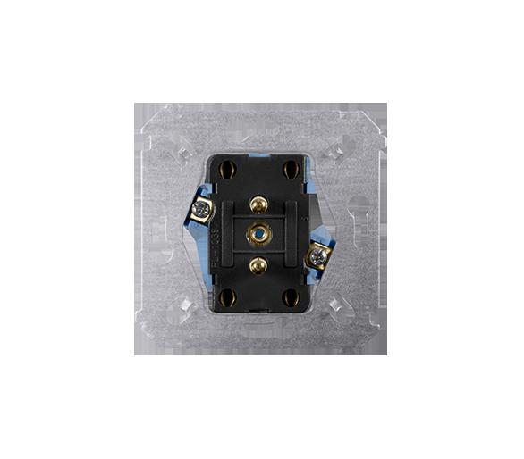 Gniazdo wtyczkowe podwójne z uziemieniem (mechanizm) 16A 250V, zaciski śrubowe, SGZ2M
