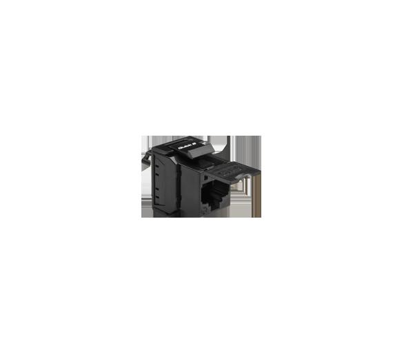 Wkład gniazda komputerowego RJ45 kat.6, nieekranowany (UTP) czarny FBRJ456