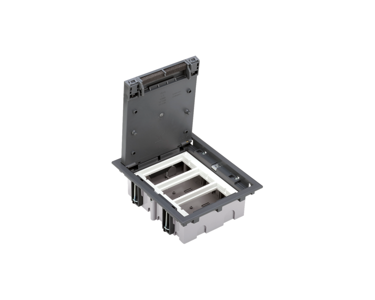 Puszka podłogowa SF prostokątna 6×K45 3×S500 70mm÷105mm szary 52050003-035