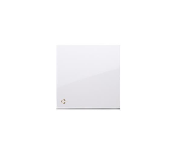Klawisz pojedynczy do łączników i przycisków antybakteryjny biały DKW1/AB11