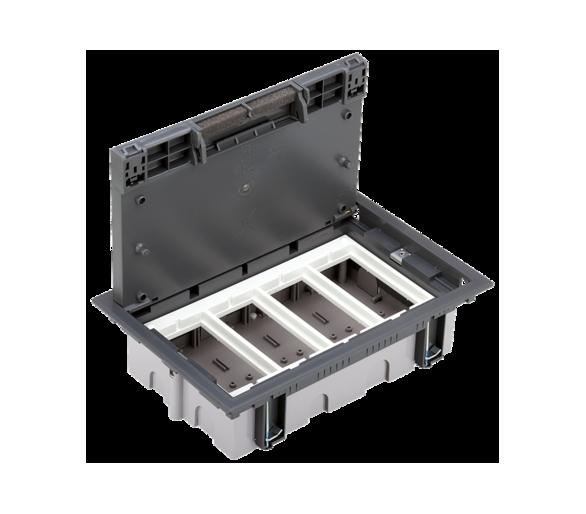 Puszka podłogowa SF prostokątna 8×K45 4×S500 70mm÷105mm szary 52050004-035