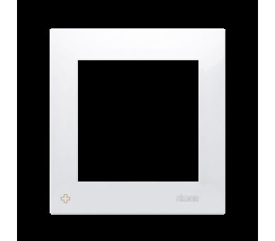 Ramka 1- krotna do puszek karton-gips antybakteryjny biały