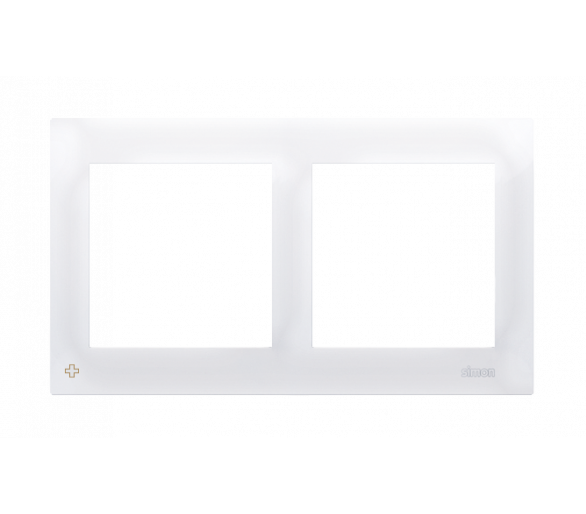 Ramka 2- krotna do puszek karton-gips antybakteryjny biały DRK2/AB11