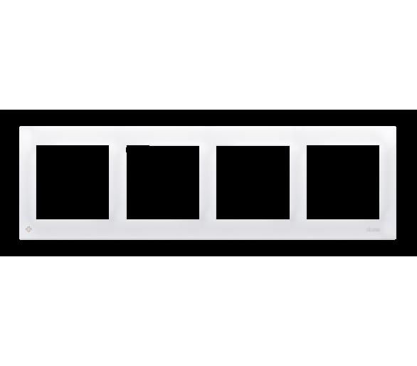 Ramka 4- krotna antybakteryjny biały DR4/AB11