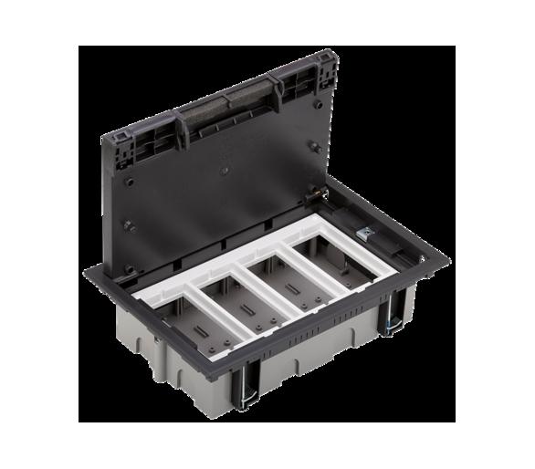 Puszka podłogowa SF prostokątna 8×K45 4×S500 70mm÷105mm szary grafit 52050004-038