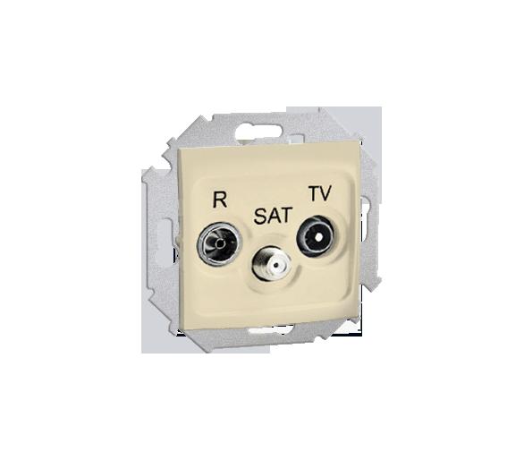 Gniazdo antenowe R-TV-SAT przelotowe tłum.:10dB beżowy 1591467-031