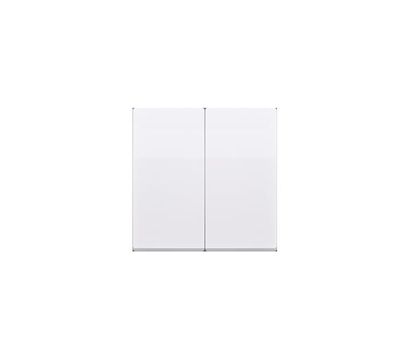 Klawisz podwójny do łączników i przycisków biały