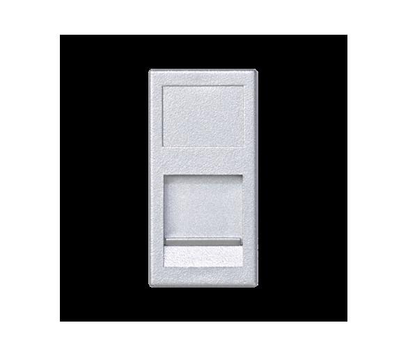 Plakietka teleinformatyczna K45 keystone pojedyncza płaska uniwersalna z osłoną 45×22,5mm aluminium KA76/8