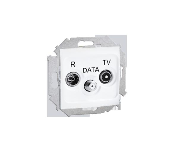 Gniazdo antenowe R-TV-DATA tłum.:10dB biały 1591048-030