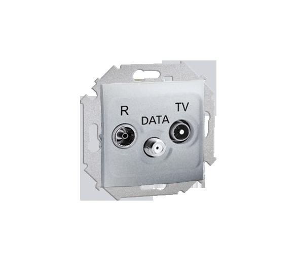Gniazdo antenowe R-TV-DATA tłum.:10dB aluminiowy, metalizowany 1591048-026