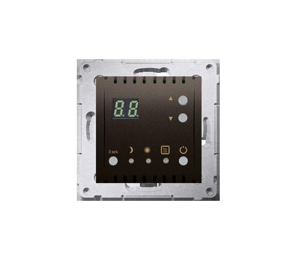 Regulator temperatury z wyświetlaczem (czujnik wewnętrzny) brąz mat, metalizowany DTRNW.01/46