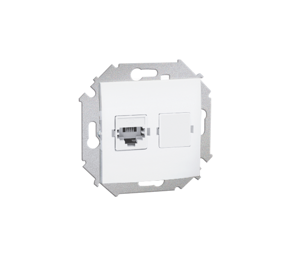 Gniazdo telefoniczne pojedyncze RJ11 biały 1591480-030