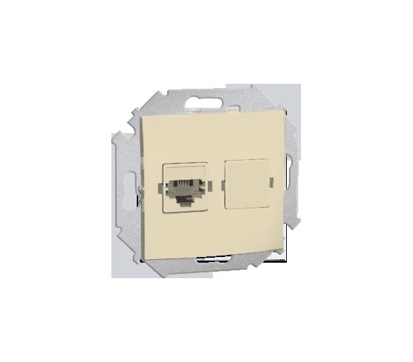 Gniazdo telefoniczne pojedyncze RJ11 beżowy 1591480-031