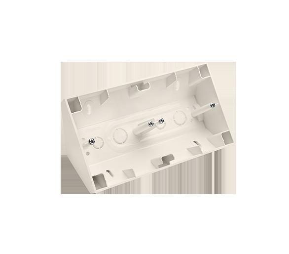Puszka natynkowa narożna 2-krotna kremowy DPNR2/41