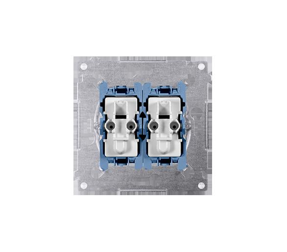 Łącznik schodowy i przycisk zwierny (mechanizm) 10AX 250V, szybkozłącza,