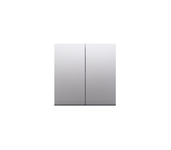 Klawisze do łącznika podwójnego schodowego SW6/2M srebrny mat, metalizowany DKW6/2/43