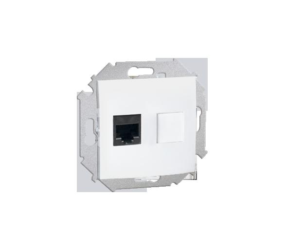 Gniazdo komputerowe pojedyncze RJ45 kategoria 5e biały