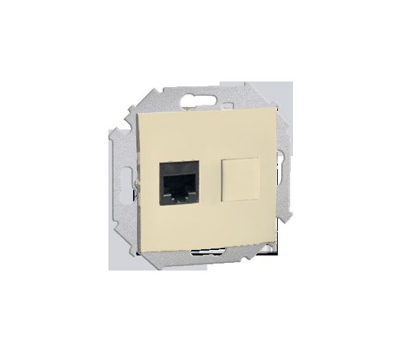 Gniazdo komputerowe pojedyncze RJ45 kategoria 5e beżowy 1591551-031