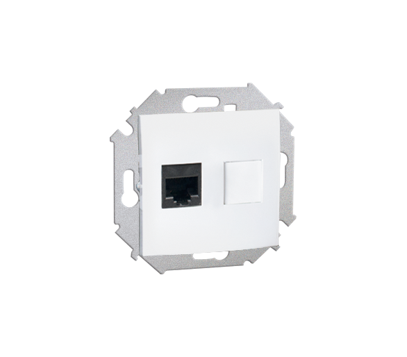 Gniazdo komputerowe pojedyncze RJ45 kategoria 6 biały 1591561-030
