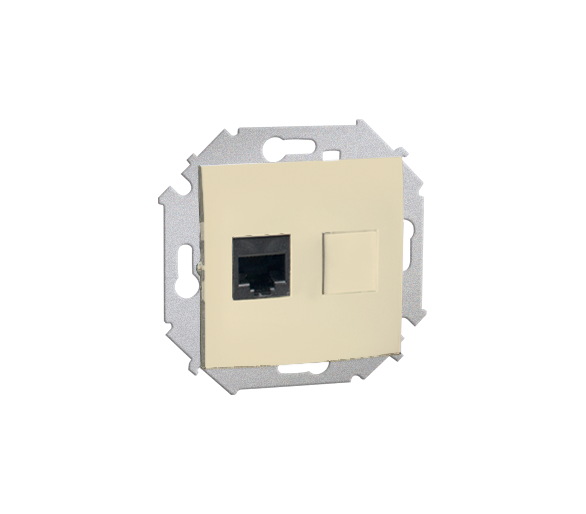 Gniazdo komputerowe pojedyncze RJ45 kategoria 6 beżowy 1591561-031