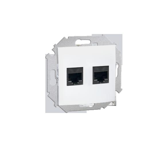 Gniazdo komputerowe podwójne RJ45 kategoria 6 biały