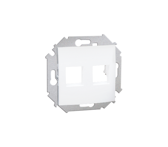 Pokrywa gniazd teleinformatycznych na Keystone płaska podwójna biały 1591530-030