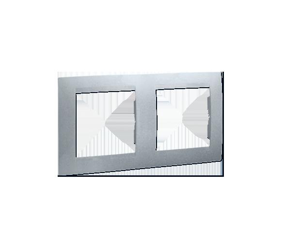 Ramka 2- krotna aluminiowy, metalizowany 1501620-026