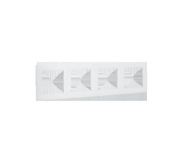 Ramka 4- krotna biały 1501640-030