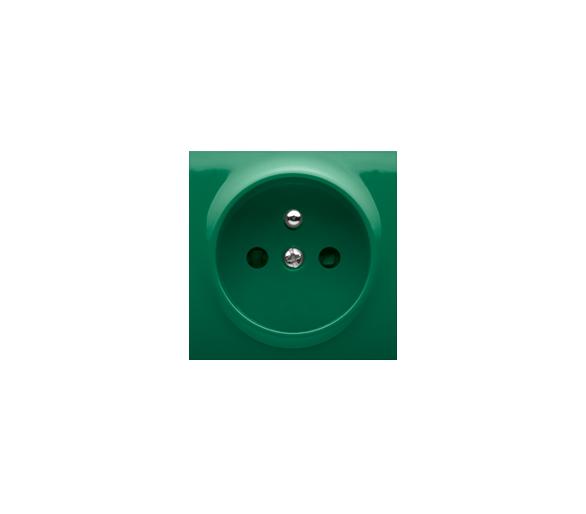 Pokrywa do gniazda wtyczkowego pojedynczego z uziemieniem zielony DGZ1ZP/33