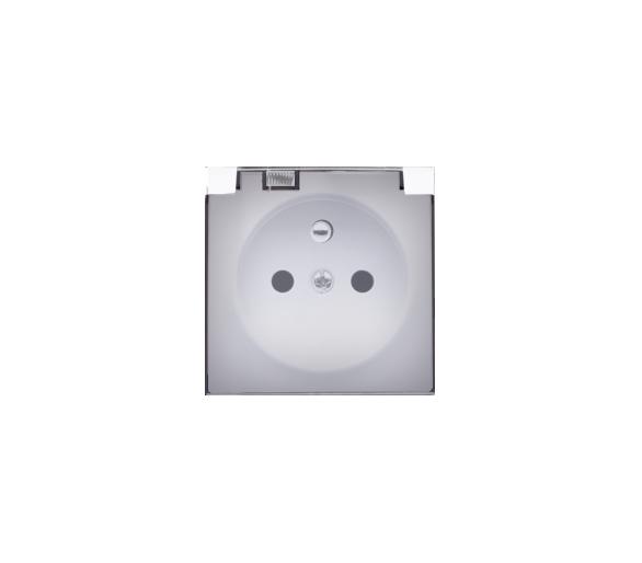 Pokrywa do gniazda wtyczkowego z uziemieniem - do wersji IP44- klapka w kolorze transparentnym biały DGZ1BUZP/11A