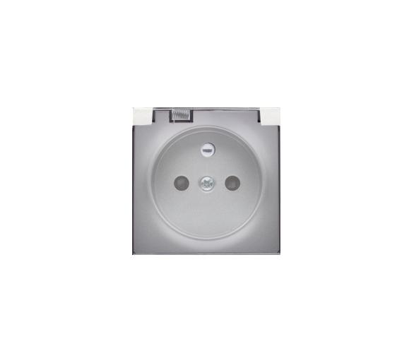 Pokrywa do gniazda wtyczkowego z uziemieniem - do wersji IP44- klapka w kolorze transparentnym srebrny mat, metalizowany DGZ1BUZ