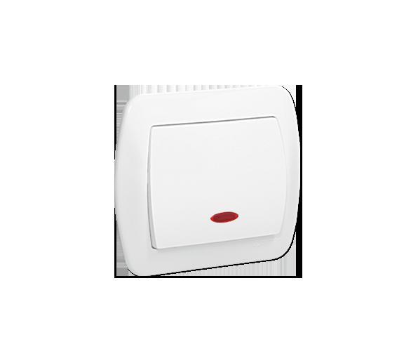 Łącznik jednobiegunowy z podświetleniem biały 10AX AW1L/11