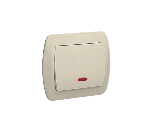 Łącznik jednobiegunowy z podświetleniem beżowy 10AX AW1L/12