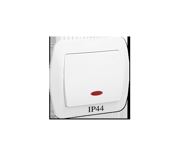 Łącznik jednobiegunowy z podświetleniem bryzgoszczelny biały 10AX AW1BL/11