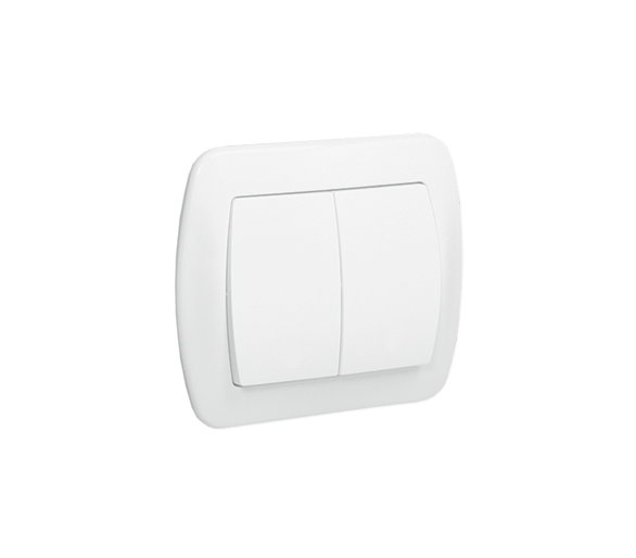 Łącznik świecznikowy biały 10AX