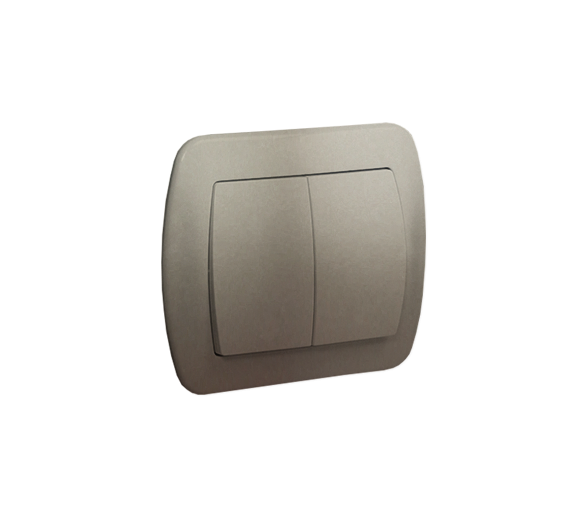 Łącznik świecznikowy z podświetleniem satynowy, metalizowany 10AX AW5L/29