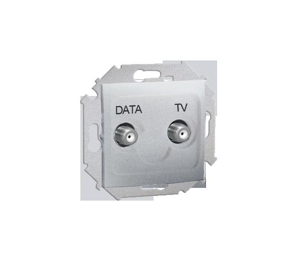 Gniazdo antenowe TV-DATA tłum.:5dB aluminium 1591049-026
