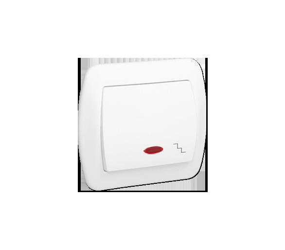 Łącznik schodowy z podświetleniem biały 10AX AW6L/11