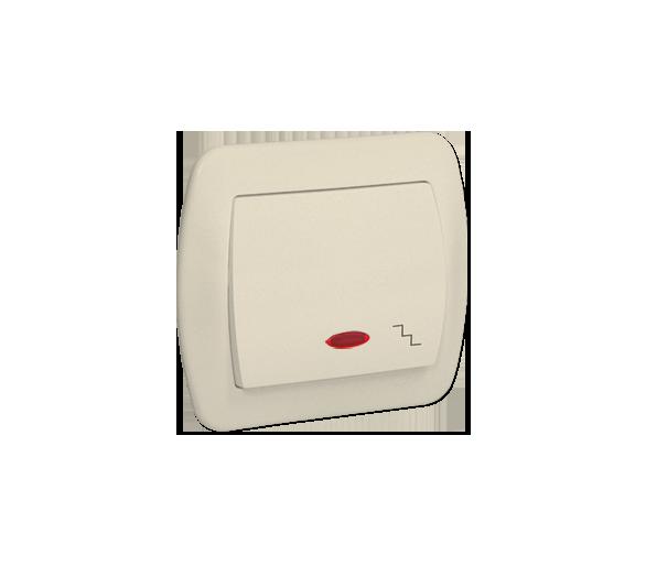 Łącznik schodowy z podświetleniem beżowy 10AX AW6L/12