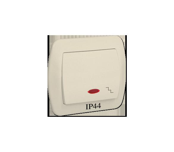 Łącznik schodowy  podświetleniem bryzgoszczelny IP44 beżowy 10AX AW6BL/12