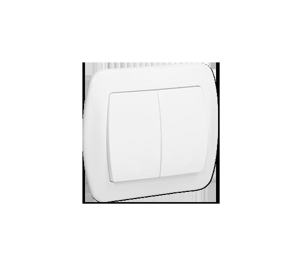 Łącznik schodowy podwójny z podświetleniem biały 10AX AW6/2L/11