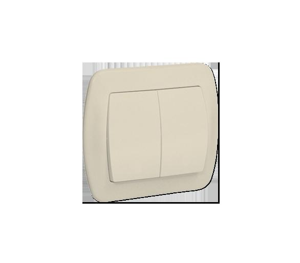 Łącznik schodowy podwójny z podświetleniem beżowy 10AX AW6/2L/12