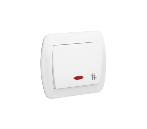 Łącznik krzyżowy z podświetleniem biały 10AX AW7L/11