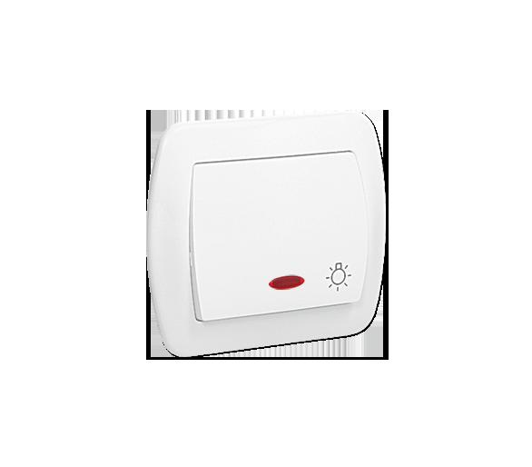 """Przycisk """"światło"""" z podświetleniem biały 10AX AS1L/11"""