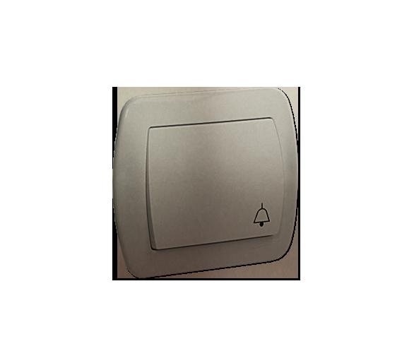 """Przycisk """"dzwonek"""" satynowy, metalizowany 10AX AD1/29"""
