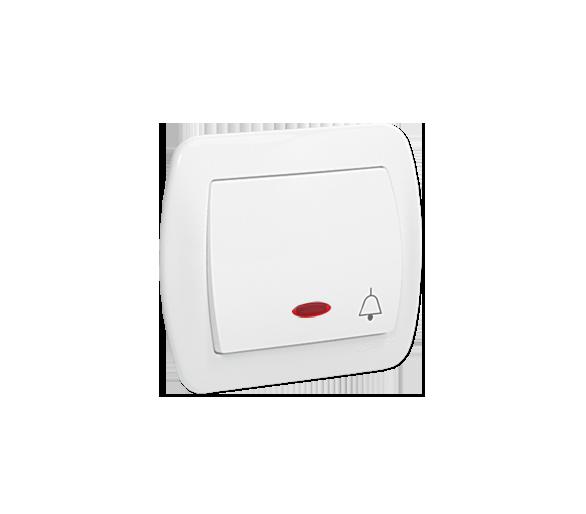 """Przycisk """"dzwonek"""" z podświetleniem biały 10AX AD1L/11"""